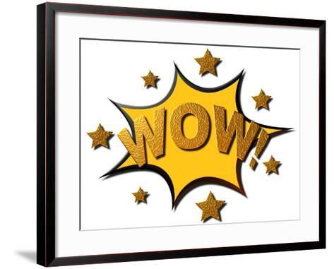 Wow!- carlmarx-Framed Art Print