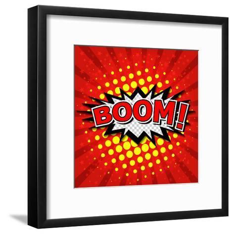 Boom! Comic Speech Bubble-jirawatp-Framed Art Print