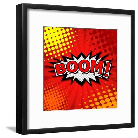 Boom! Comic Speech Bubble, Cartoon-jirawatp-Framed Art Print