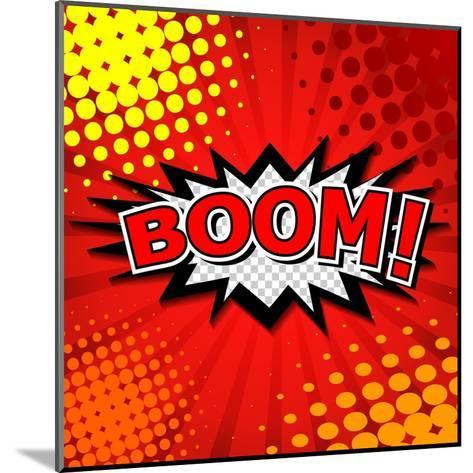 Boom! Comic Speech Bubble, Cartoon-jirawatp-Mounted Art Print