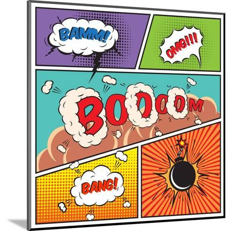 Comic Speech Bubbles-Macrovector-Mounted Art Print