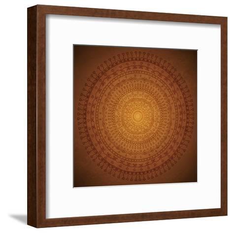 Vintage Mandala Ornament Background-siminitzki-Framed Art Print