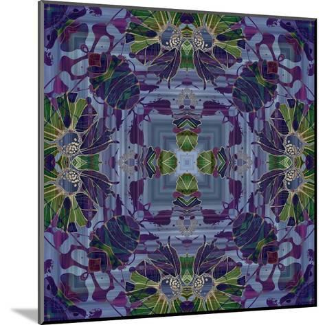 Art Nouveau Geometric Ornamental Vintage Pattern in Violet and Green Colors-Irina QQQ-Mounted Art Print