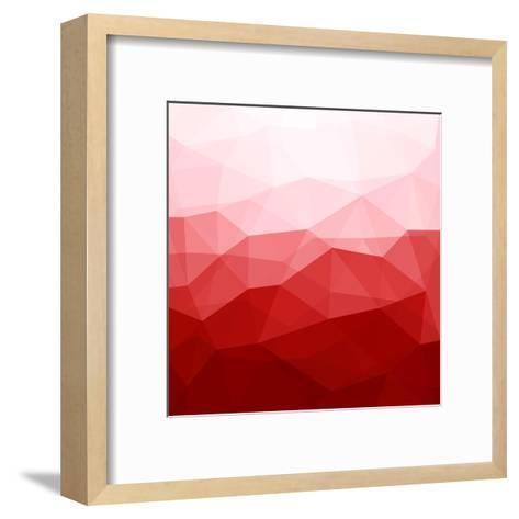 Abstract Red Background-epic44-Framed Art Print