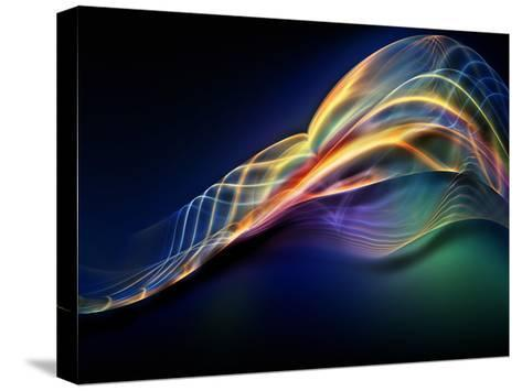 Fractal Waves Composition-agsandrew-Stretched Canvas Print