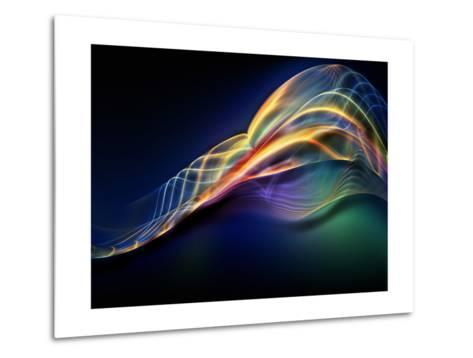 Fractal Waves Composition-agsandrew-Metal Print