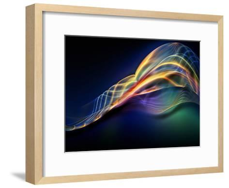 Fractal Waves Composition-agsandrew-Framed Art Print