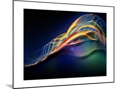 Fractal Waves Composition-agsandrew-Mounted Art Print