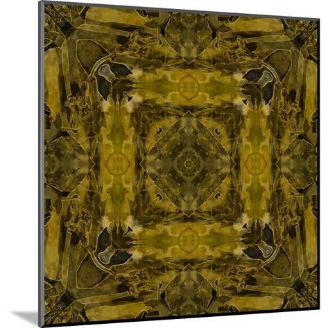 Art Nouveau Colorful Ornamental Vintage Pattern in Gold and Green Colors-Irina QQQ-Mounted Art Print