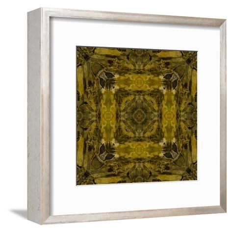 Art Nouveau Colorful Ornamental Vintage Pattern in Gold and Green Colors-Irina QQQ-Framed Art Print