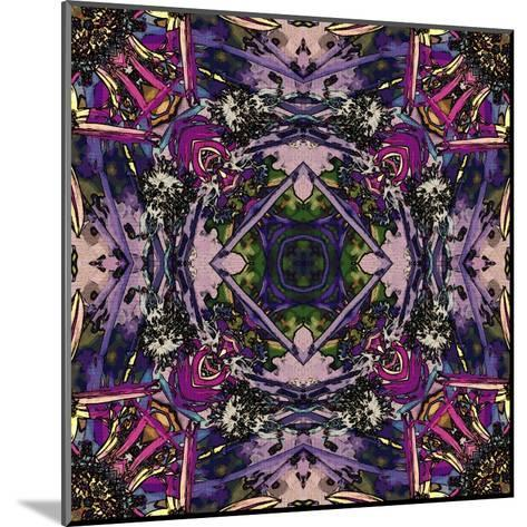 Art Nouveau Geometric Ornamental Vintage Pattern in Lilac, Violet and Blue Colors-Irina QQQ-Mounted Art Print