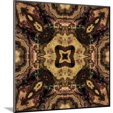 Art Nouveau Geometric Ornamental Vintage Pattern in Beige and Brown Colors-Irina QQQ-Mounted Art Print