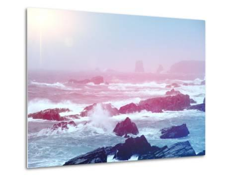 Ocean with Big Waves-melking-Metal Print