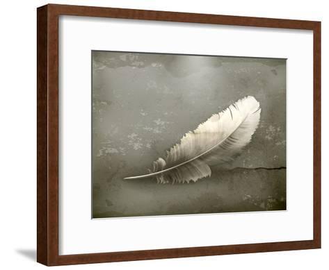 Feather, Old-Style-Nataliia Natykach-Framed Art Print