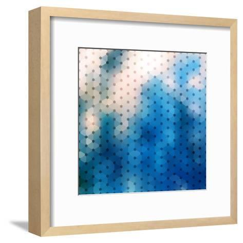 Abstract Blue Background-epic44-Framed Art Print