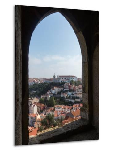 View over Lisbon Portugal-BackyardProductions-Metal Print