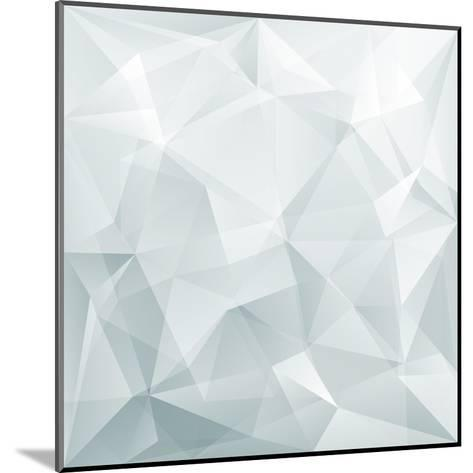 Abstract Triangle Background-Ms.Moloko-Mounted Art Print