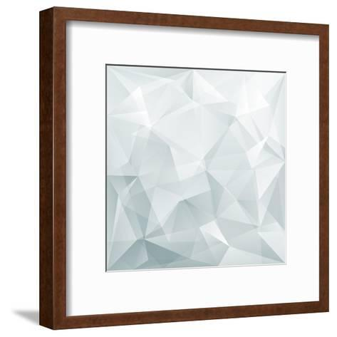 Abstract Triangle Background-Ms.Moloko-Framed Art Print