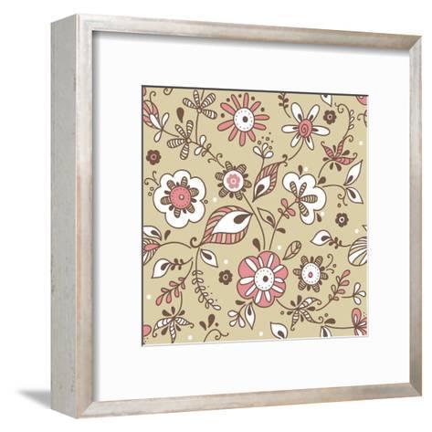 Floral Pattern-lozas-Framed Art Print