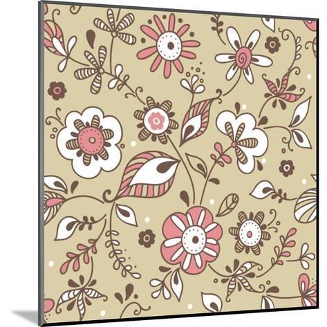 Floral Pattern-lozas-Mounted Art Print
