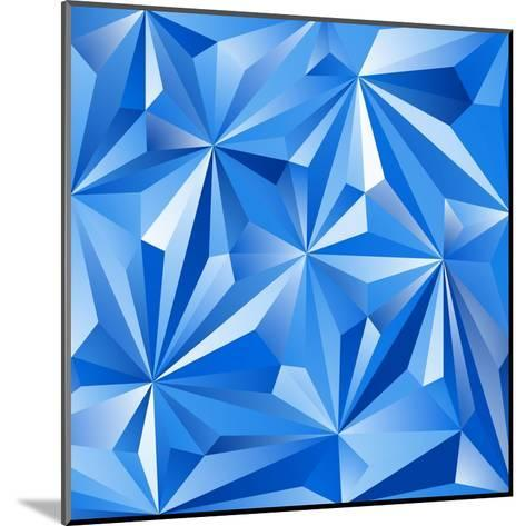 Abstract Blue Background-epic44-Mounted Art Print