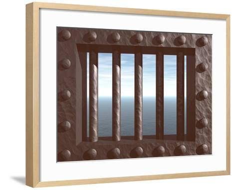 Prison-drizzd-Framed Art Print