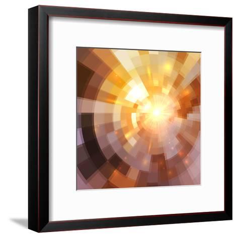 Abstract Shining Mosaic Background-art_of_sun-Framed Art Print