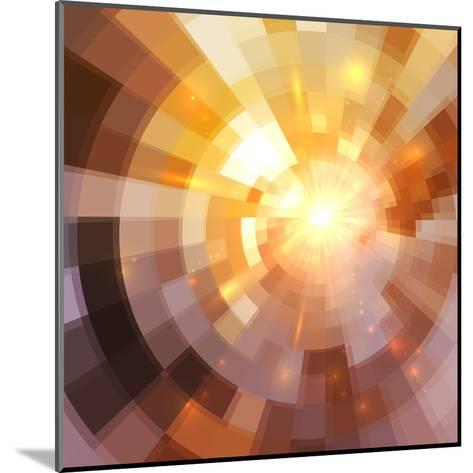 Abstract Shining Mosaic Background-art_of_sun-Mounted Art Print