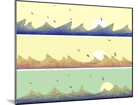 Horizontal Banner: Mosaic of Wave with Foam-Vertyr-Mounted Art Print