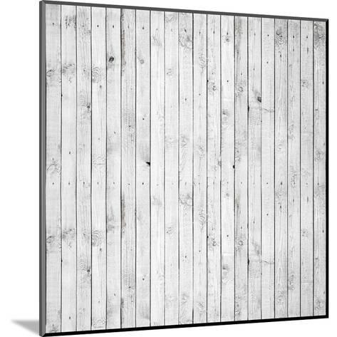 Background Texture of Old White Painted Wooden Lining Boards Wall-Eugene Sergeev-Mounted Art Print