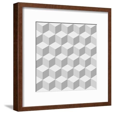Cubes Background- sergey89rus-Framed Art Print