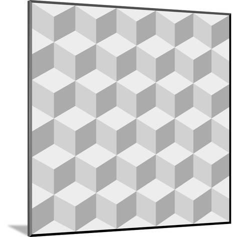 Cubes Background- sergey89rus-Mounted Art Print