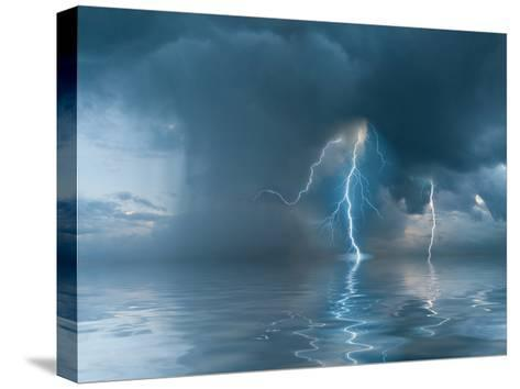 Landscape with the Thunderstorm-firewings-Stretched Canvas Print