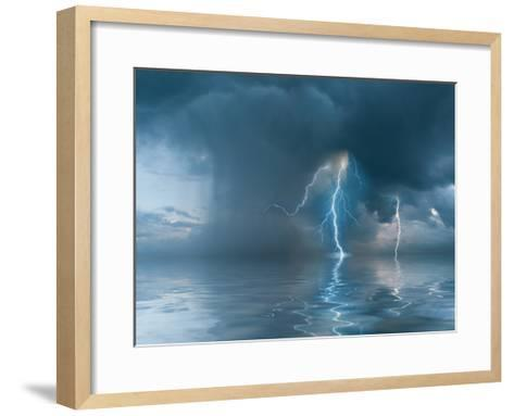 Landscape with the Thunderstorm-firewings-Framed Art Print