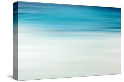 Blue Motion Blur Abstract Background-Malija-Stretched Canvas Print