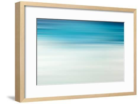 Blue Motion Blur Abstract Background-Malija-Framed Art Print