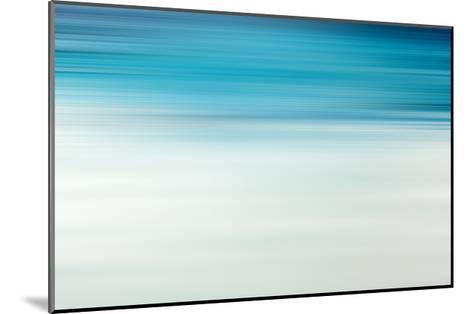 Blue Motion Blur Abstract Background-Malija-Mounted Art Print