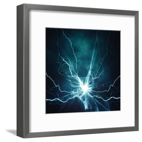 Electric Lighting Effect-dtolokonov-Framed Art Print