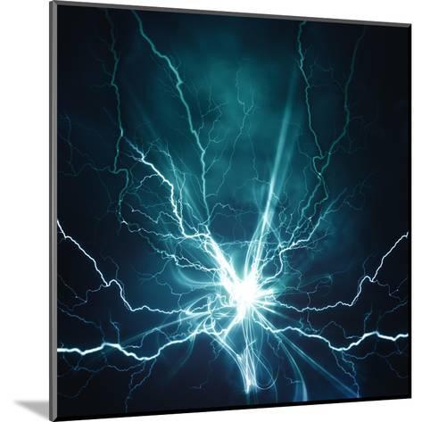 Electric Lighting Effect-dtolokonov-Mounted Art Print