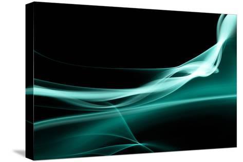 Turquoise Smoke-Nneirda-Stretched Canvas Print