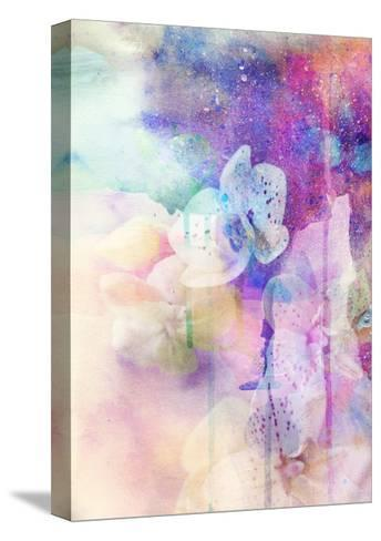 Abstract Floral Background- Watercolor Grunge Texture-run4it-Stretched Canvas Print