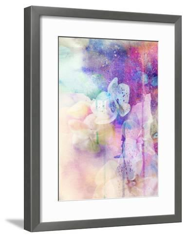 Abstract Floral Background- Watercolor Grunge Texture-run4it-Framed Art Print