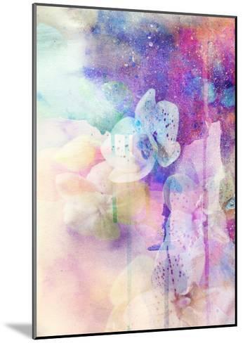 Abstract Floral Background- Watercolor Grunge Texture-run4it-Mounted Art Print