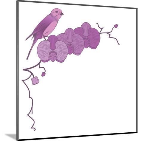 Orchid and Bird-tanais-Mounted Art Print