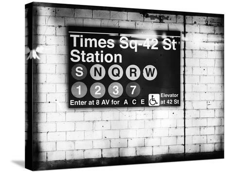 Subway Times Square - 42 Street Station - Subway Sign - Manhattan, New York City, USA-Philippe Hugonnard-Stretched Canvas Print