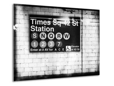 Subway Times Square - 42 Street Station - Subway Sign - Manhattan, New York City, USA-Philippe Hugonnard-Metal Print