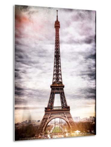 Instants of Paris Series - Eiffel Tower, Paris, France-Philippe Hugonnard-Metal Print