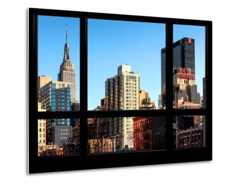The Empire State Building and New Yorker Hotel - New York, USA-Philippe Hugonnard-Metal Print