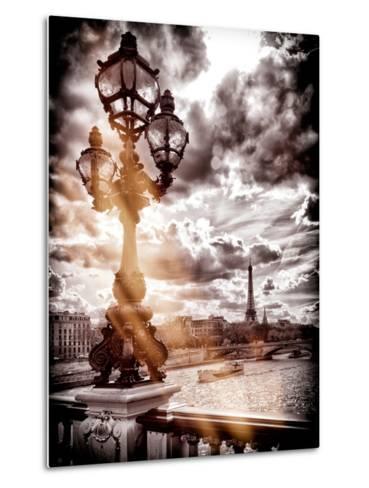 Instants of Series - Alexander III and Eiffel Tower - Paris, France-Philippe Hugonnard-Metal Print