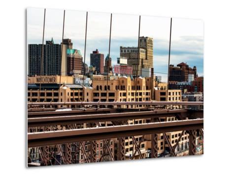 View of Brooklyn Bridge of the Watchtower Building-Philippe Hugonnard-Metal Print